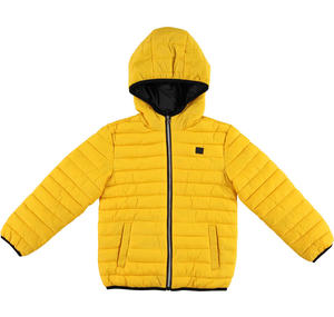 100 grams quilted jacket with hood  YELLOW