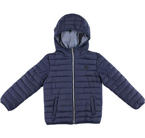 100 grams quilted jacket with hood  BLUE
