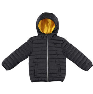 100 grams quilted jacket with hood  BLACK