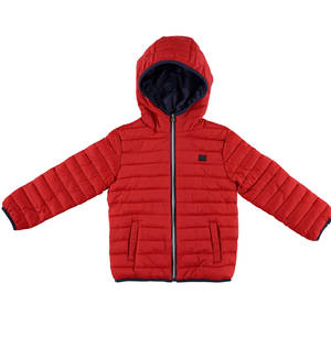 100 grams quilted jacket with hood  RED