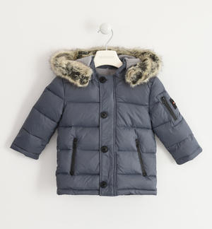 Sarabanda padded down jacket made of nylon and stuffed with real goose down GREY