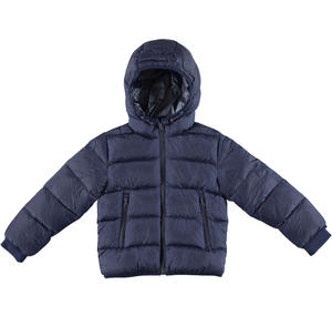 Goose down jacket with windproof cuffs  BLUE