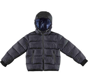 Goose down jacket with windproof cuffs  BLACK