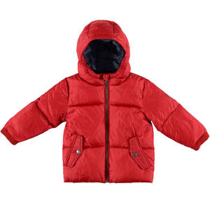 Goose down jacket with windproof cuffs RED