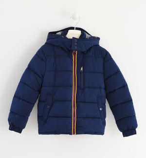 Nylon winter down jacket with cotton padding BLUE