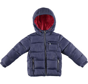 Winter padded jacket with hood  BLUE