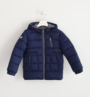 Sarabanda nylon winter down jacket BLUE