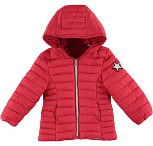 Lightweight  down jacket with laminated star RED