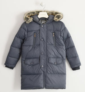Down jacket in nylon filled with goose down GREY