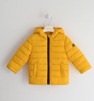 100 grams down jacket with contrasting lining YELLOW