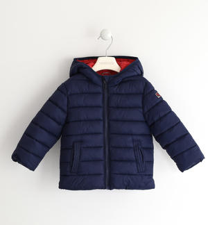100 grams down jacket with contrasting lining BLUE