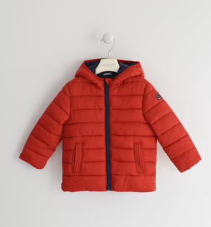 100 grams down jacket with contrasting lining RED