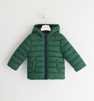 100 grams down jacket with contrasting lining GREEN