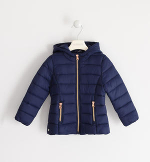 100 grams down jacket with contrasting zip BLUE