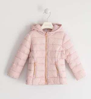 100 grams down jacket with contrasting zip PINK