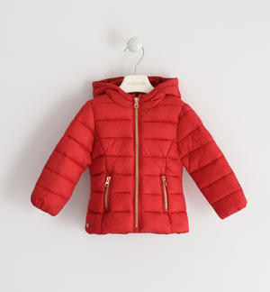 100 grams down jacket with contrasting zip RED