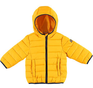 100 grams padded down jacket with hood  YELLOW