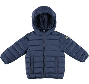 100 grams padded down jacket with hood  BLUE