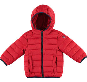 100 grams padded down jacket with hood  RED