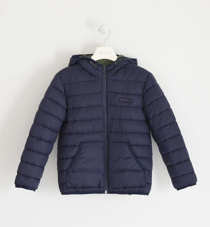 Down jacket for boy 100 grams model with hood