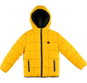 Reversible padded quilted jacket YELLOW