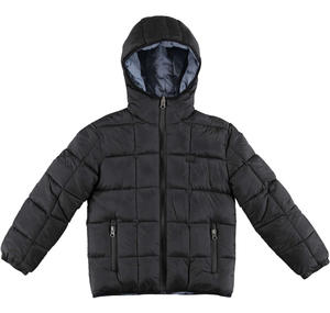Reversible padded quilted jacket BLACK
