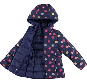 Reversible padded jacket with a digital pattern BLUE