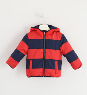 Outwear a reversible down jacket RED
