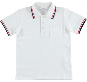 Short-sleeved polo shirt in cotton pique WHITE