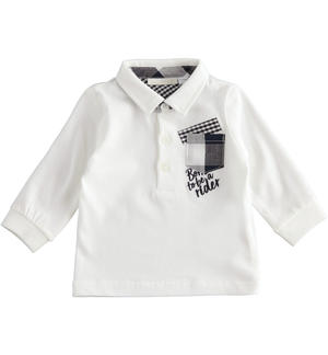 100% cotton fabric long sleeves Polo shirt for baby boy