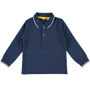 Polo shirt with embroidered logo  BLUE
