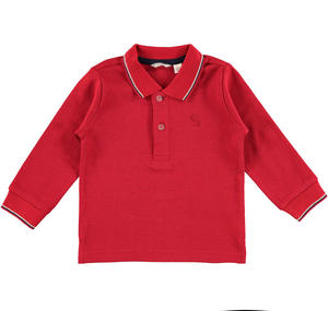 Polo shirt with embroidered logo  RED