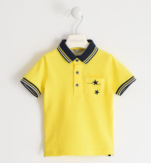 100% cotton pique polo shirt with stars YELLOW