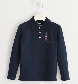Polo shirt in stretch piquet BLUE