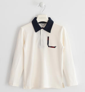 Polo shirt in stretch piquet CREAM