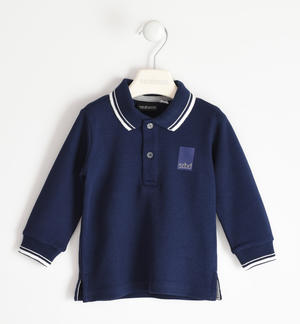 Solid colour polo shirt in 100% cotton for boy BLUE