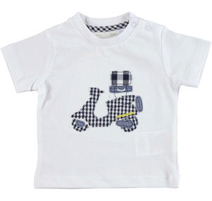 Practical and comfortable 100% cotton baby t-shirt WHITE
