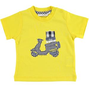 Practical and comfortable 100% cotton baby t-shirt YELLOW