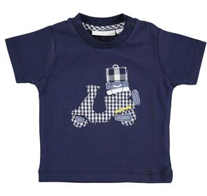 Practical and comfortable 100% cotton baby t-shirt BLUE