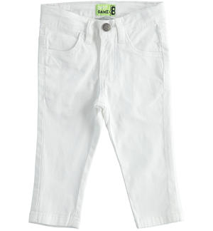 Practical and versatile twill trousers WHITE