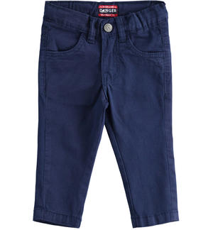 Practical and versatile twill trousers BLUE