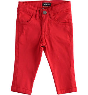 Practical and versatile twill trousers RED