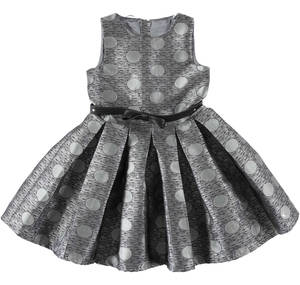 Sleeveless dress in a dotty pattern GREY