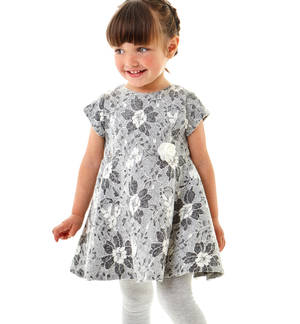 Lace short-sleeved dress - Sarabanda fashionable and comfortable clothes for 0-16 year old kids