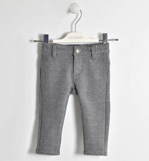 Refined jaspé trousers  GREY