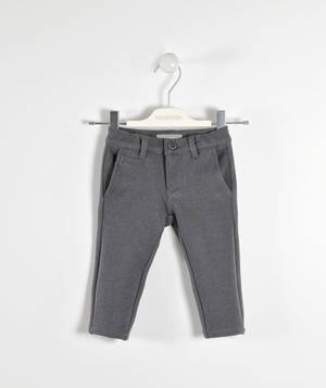 Refined trousers in a special fabric  GREY