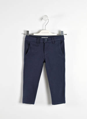 Refined trousers in a special fabric  BLUE