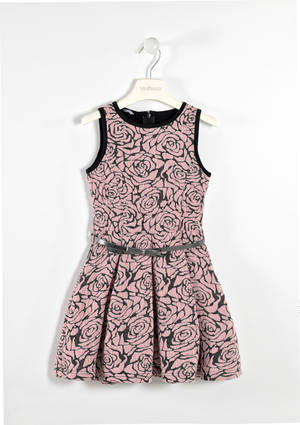 Refined  sleeveless dress with lurex yarn  PINK