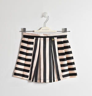 Full-flared skirt with stripes play PINK