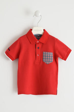 Boy¿s comfy short-sleeved 100% cotton polo shirt RED
